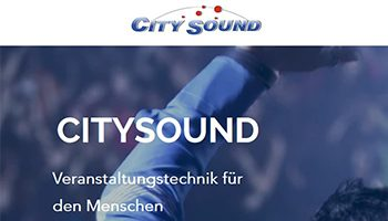 Citysound Veranstaltungstechnick